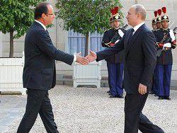Путин — Олланду: минимизировать риски в отношениях РФ и Франции