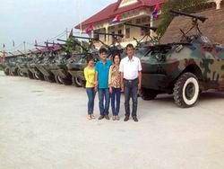 Фермер усовершенствовал парк камбоджийских бронемашин